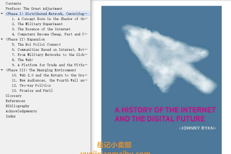 【电子书】A History of the Internet and the Digital Future by Johnny Ryan(mobi,epub,pdf)
