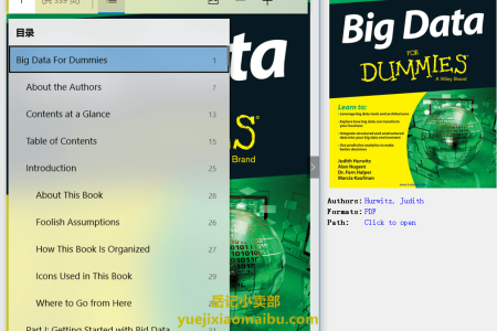 【电子书】Big Data for Dummies (Dummies) by Judith Hurwitz,  Alan Nugent, Fern Halper, Marcia Kaufman(pdf)