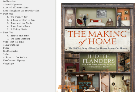 【电子书】The Making of Home: The 500-Year Story of How Our Houses Became Our Homes by Judith Flanders(mobi,epub,pdf)
