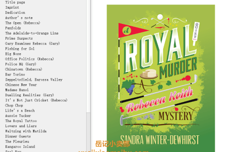 A Royal Murder (Rebecca Keith mysteries #2) by Sandra Winter-Dewhirst