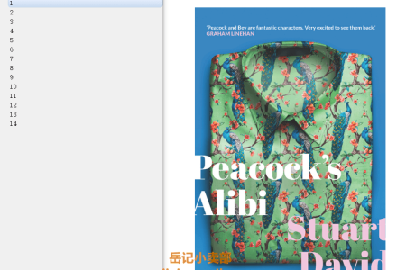 【电子书】Peacock's Alibi by Stuart David(mobi,epub,pdf)