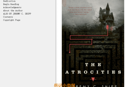 【电子书】The Atrocities by Jeremy C. Shipp(mobi,epub,pdf)