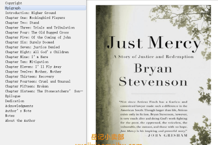 【配音频】Just Mercy: A Story of Justice and Redemption by Bryan Stevenson(mobi,epub,pdf)