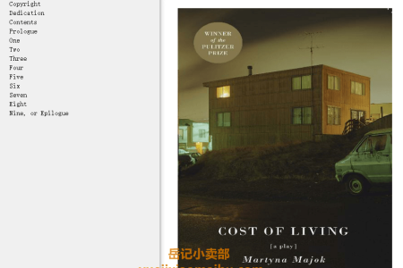 【电子书】Cost of Living by Martyna Majok(mobi,epub,pdf)