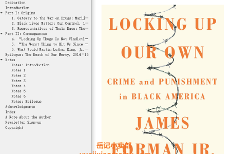 Locking Up Our Own: Crime and Punishment in Black America by James Forman Jr.