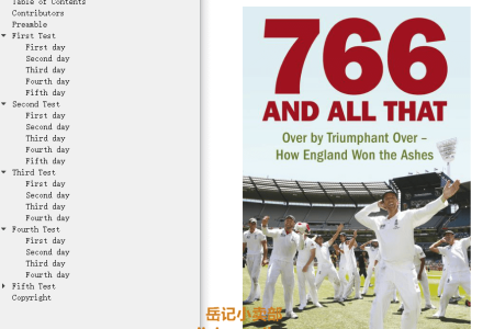 766 and All That: Over by Triumphant Over - How England Won the Ashes by Paul Johnson