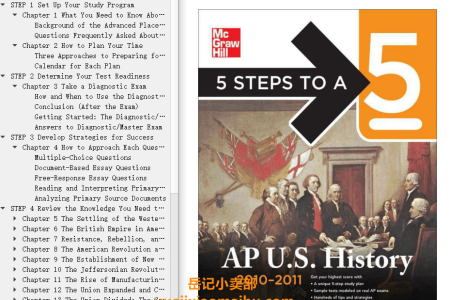 5 Steps to a 5 AP U.S. History, 2010-2011 Edition by Stephen Armstrong