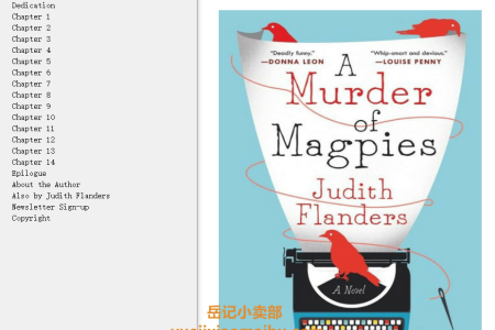 A Murder of Magpies (Sam Clair #1) by Judith Flanders