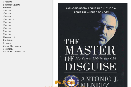 The Master of Disguise: My Secret Life in the CIA by Antonio J. Méndez,  Malcolm McConnell