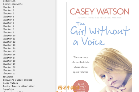 The Girl Without a Voice: The true story of a terrified child whose silence spoke volumes by Casey Watson