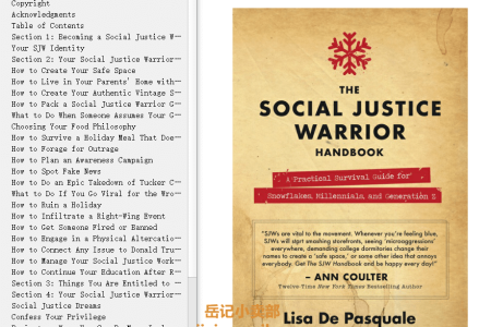 The Social Justice Warrior Handbook: A Practical Survival Guide for Snowflakes, Millennials, and Generation Z by Lisa De Pasquale