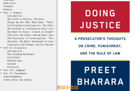 Doing Justice: A Prosecutor's Thoughts on Crime, Punishment, and the Rule of Law by Preet Bharara