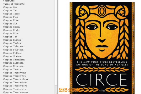 【配音频】Circe by Madeline Miller(mobi,epub,pdf)