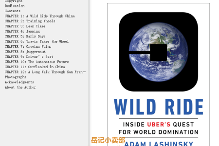 Wild Ride: Inside Uber's Quest for World Domination by Adam Lashinsky