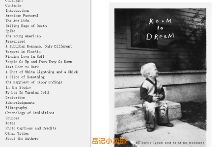 Room to Dream by David Lynch,  Kristine McKenna