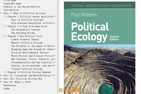 Political Ecology: A Critical Introduction by Paul Robbins
