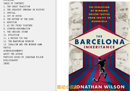 The Barcelona Inheritance: The Evolution of Winning Soccer Tactics from Cruyff to Guardiola by Jonathan Wilson