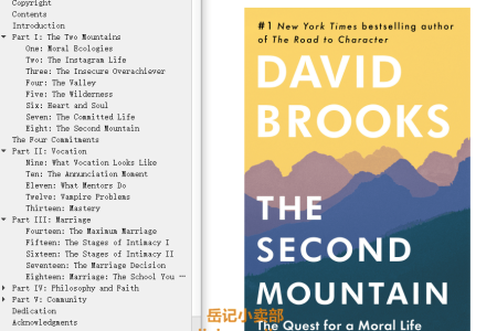 The Second Mountain by David Brooks