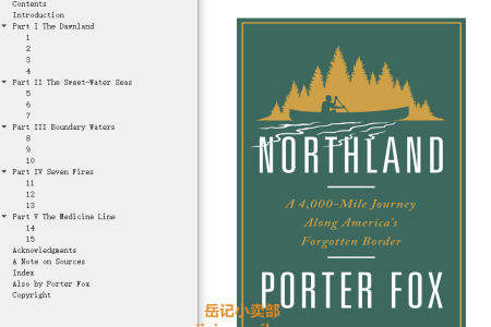 Northland: A 4,000-Mile Journey Along America's Forgotten Border by Porter Fox