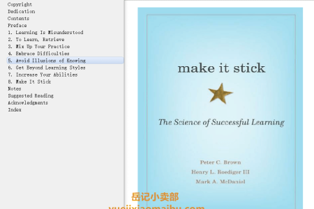 Make It Stick: The Science of Successful Learning by Peter C. Brown,  Henry L. Roediger III, Mark A. McDaniel