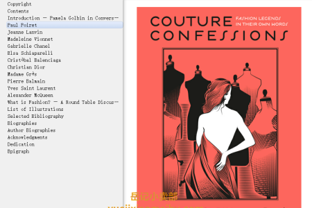 Couture Confessions: Twentieth-Century Fashion Icons in Their Own Words by Pamela Golbin