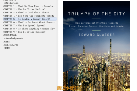 Triumph of the City: How Our Greatest Invention Makes Us Richer, Smarter, Greener, Healthier and Happier by Edward L. Glaeser