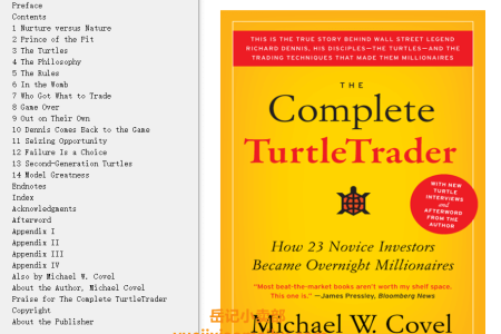 The Complete TurtleTrader: The Legend, the Lessons, the Results by Michael W. Covel