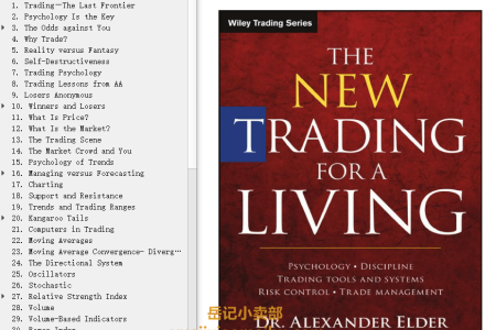The New Trading for a Living: Psychology, Trading Tactics, Risk Management, and Record-Keeping by Alexander Elder