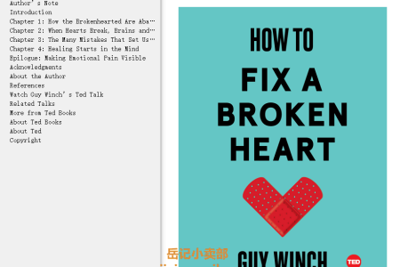 How to Fix a Broken Heart (TED Books #20) by Guy Winch