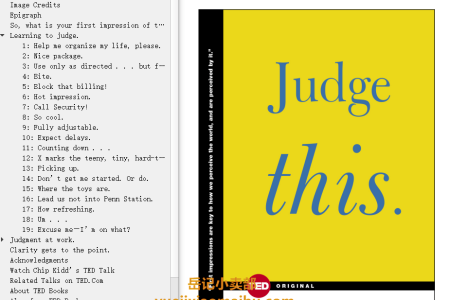 Judge This (TED Books #7) by Chip Kidd