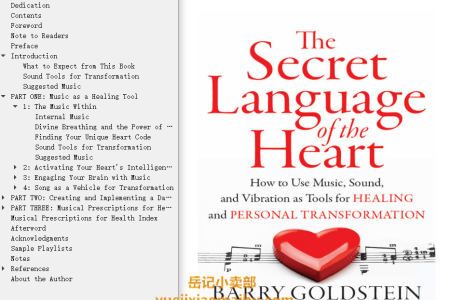 The Secret Language of the Heart: How to Use Music, Sound, and Vibration as Tools for Healing and Personal Transformation by Barry Goldstein