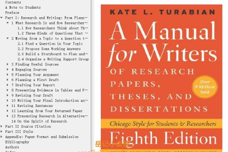 A Manual for Writers of Research Papers, Theses, and Dissertations: Chicago Style for Students and Researchers by Kate L. Turabian