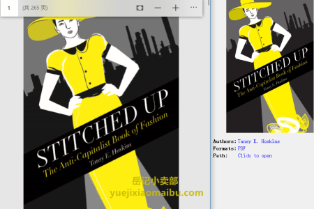 【配音频】Stitched Up: The Anti-Capitalist Book of Fashion by Tansy E. Hoskins(pdf)