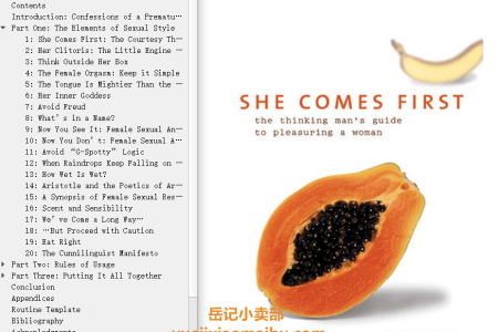 【配音频】She Comes First: The Thinking Man's Guide to Pleasuring a Woman by Ian Kerner(mobi,epub,pdf)