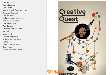 【配音频】Creative Quest by Ahmir Questlove Thompson(mobi,epub,pdf)