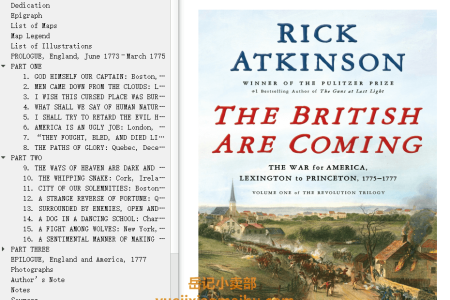 【配音频】The British Are Coming: The War for America, Lexington to Princeton, 1775-1777 (The Revolution Trilogy #1) by Rick Atkinson(mobi,epub,pdf)