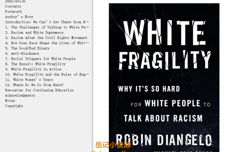 【配音频】White Fragility: Why It's So Hard for White People to Talk About Racism by Robin DiAngelo(mobi,epub,pdf)