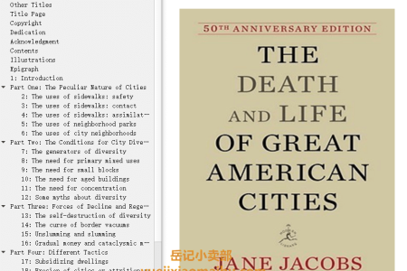 【配音频】The Death and Life of Great American Cities by Jane Jacobs(mobi,epub,pdf)