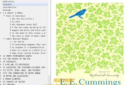 【电子书】Selected Poems by E.E. Cummings(mobi,epub,pdf)