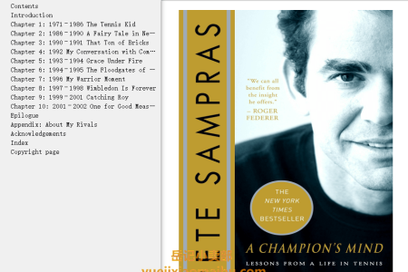【配音频】A Champion's Mind: Lessons from a Life in Tennis by Pete Sampras,  Peter Bodo(mobi,epub,pdf)