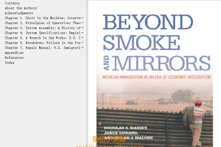 【电子书】Beyond Smoke and Mirrors: Mexican Immigration in an Era of Economic Integration by Douglas S. Massey,  Jorge Durand, Nolan J. Malone(mobi,epub,pdf)
