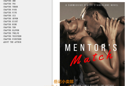 【电子书】Mentor's Match: A Submissive Series Standalone Novel (Submissive #11) by Tara Sue Me(mobi,epub,pdf)