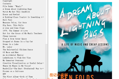 【配音频】A Dream About Lightning Bugs: A Life of Music and Cheap Lessons by Ben Folds(mobi,epub,pdf)