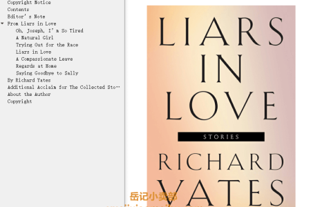 【电子书】Liars in Love by Richard Yates(mobi,epub,pdf)