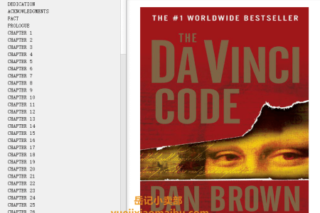 【配音频】The Da Vinci Code (Robert Langdon #2) by Dan Brown(mobi,epub,pdf)