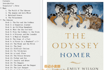 【配音频】The Odyssey by Homer(mobi,epub,pdf)