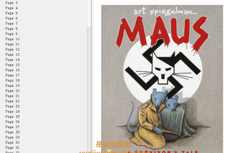 【电子书】Maus I: A Survivor's Tale: My Father Bleeds History (Maus #1) by Art Spiegelman(mobi,epub,pdf)