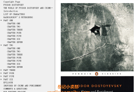 【配音频】Crime and Punishment by Fyodor Dostoyevsky(mobi,epub,pdf)