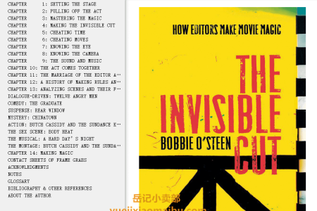 【电子书】The Invisible Cut: How Editors Make Movie Magic by Bobbie O'Steen(mobi,epub,pdf)