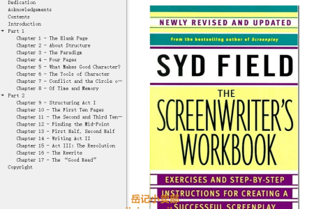 【电子书】The Screenwriter's Workbook: Exercises and Step-by-Step Instructions for Creating a Successful Screenplay by Syd Field(mobi,epub,pdf)